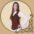 LARP Costume Lisa Suede Leather Bodice